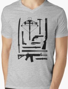 The Walking Dead Weapons Mens V-Neck T-Shirt