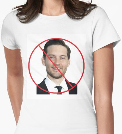 Anti-Tobey Maguire Womens Fitted T-Shirt