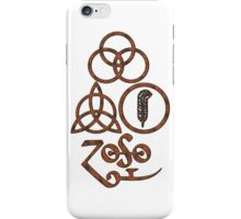 ANCIENT PAGAN ELEMENTS SYMBOLS (L) - copper grunge NEW iPhone Case/Skin
