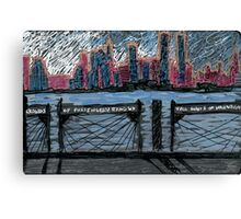skyline with whitman quote Canvas Print