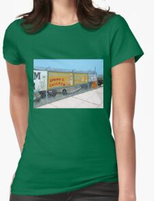 coney island shrimp and chicken Womens Fitted T-Shirt
