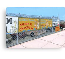 coney island shrimp and chicken Canvas Print