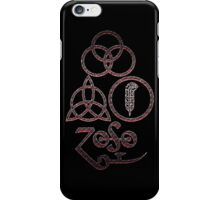 ANCIENT PAGAN ELEMENTS SYMBOLS (L) - bloody rust NEW iPhone Case/Skin
