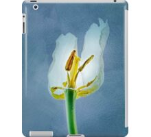 White withering tulip flower iPad Case/Skin
