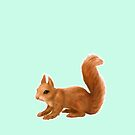 Squirrel on Mint by ThistleandFox
