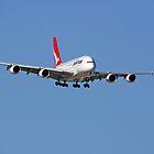 Qantas A380 On Approach  by EOS20