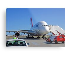 Parked A380  Metal Print