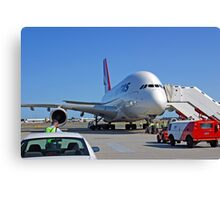 Parked A380  Canvas Print