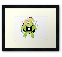 Aki Lime Robot - I Come In Peace! Framed Print