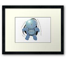 Junko Blue Robot - Plutonian Peace Keeping Corp Framed Print