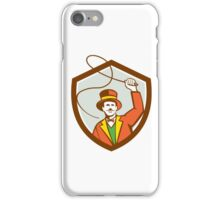 Circus Ring Master Bullwhip Shield Retro iPhone Case/Skin