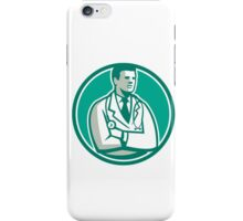 Doctor Stethoscope Standing Circle Retro iPhone Case/Skin