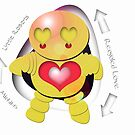 Michiko Yellow Robot - Recycled Love by migaloomagic