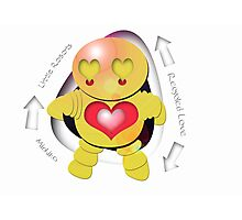 Michiko Yellow Robot - Recycled Love Photographic Print