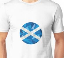 Scotland Flag Icon Circle Low Polygon Unisex T-Shirt