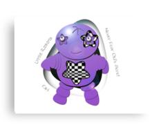 Oki Purple Robot - Never Fear Oki's Here! Canvas Print