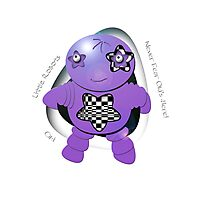 Oki Purple Robot - Never Fear Oki's Here! Photographic Print