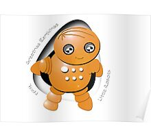 Toshi Orange Robot - Greetings Earthlings! Poster