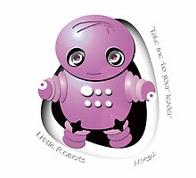 Mitsu Pink Robot - Take Me to your Leader! by migaloomagic