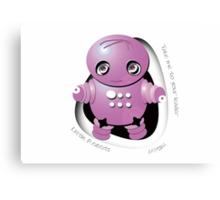 Mitsu Pink Robot - Take Me to your Leader! Canvas Print