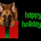 GSD Happy Holidays by AngieM