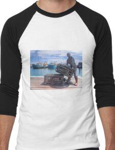 Fishing Harbour Fremantle WA - HDR Men's Baseball ¾ T-Shirt