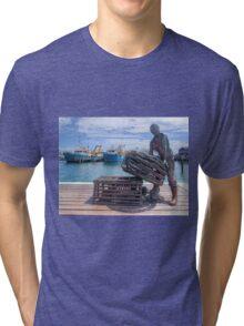Fishing Harbour Fremantle WA - HDR Tri-blend T-Shirt