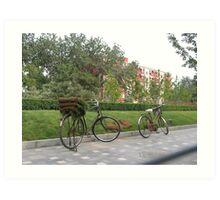 Bike city Art Print