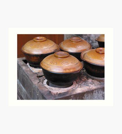 Terracotta Pots Art Print