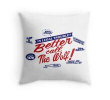 Better call The Wolf Throw Pillow