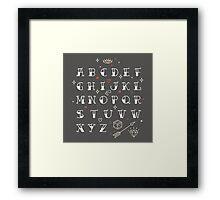 Homemade tattoo's alphabet Framed Print