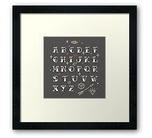 Homemade tattoo's alphabet Framed Print