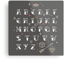 Homemade tattoos alphabet Metal Print