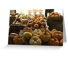 Pumpkins at the Sosnowski Farm Stand | Top 10 award Greeting Card