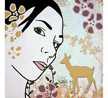 Doe A Deer I Photographic Print