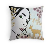Doe A Deer I Throw Pillow