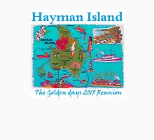 Blue Map 2015 Hayman reunion Womens Fitted T-Shirt