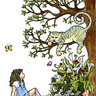Alice and the Cheshire Cat by WinonaCookie