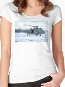 Grey Whale getting airborne Women's Fitted Scoop T-Shirt