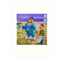 The Walrus & The Carpenter - Story Book cover (w/c on c/press illus bd) Art Print