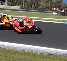 Casey Stoner and Nicky Hayden by Michelle Dewis