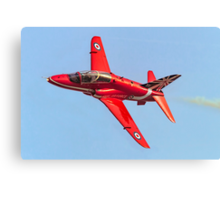 Red Arrows Hawk T.1 with anniversary paint job Canvas Print