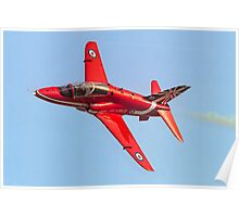 Red Arrows Hawk T.1 with anniversary paint job Poster