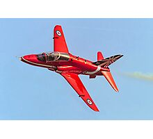 Red Arrows Hawk T.1 with anniversary paint job Photographic Print