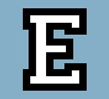 Letter E two-color by theshirtshops