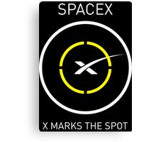 SpaceX: X Marks The Spot Canvas Print