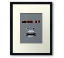 Back To The Future 'Roads' 2015 Edition - Grey Framed Print