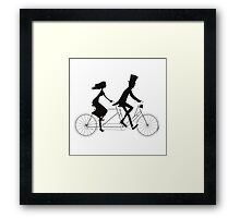 Love-bicycle Framed Print