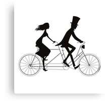 Love-bicycle Canvas Print