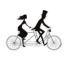Love-bicycle Photographic Print
